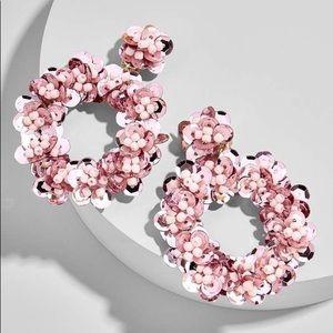 Baublebar Floretta Blush Sequin Earrings